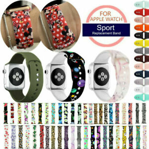 For Apple iWatch 654321 Band Silicone Strap Print Pattern Bracelet 38/40/42/44mm