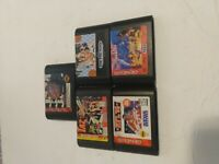 Lot of 5 Sega Genesis Games Lion King Nba Jam Tax NFL basketball