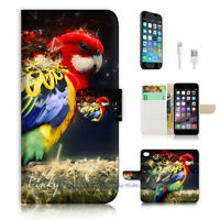 ( For iPhone 7 ) Wallet Case Cover P1776 Parrot
