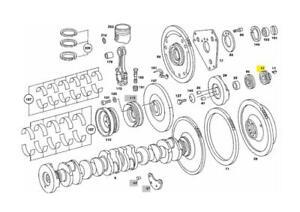 A1110520003 MERCEDES M110 ENGINE CRANKSHAFT GEAR SWAG 10 05 0003 NEW