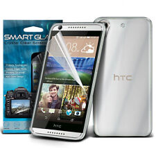 Ultra Thin Clear Gel Case Cover & Smart Glaze Film for HTC Desire 626