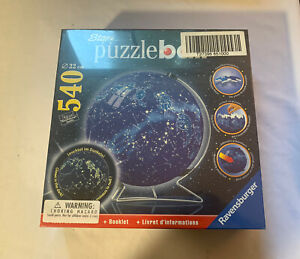 Ravensburger Star Line Celestial Map Puzzle Ball 3D 540 Pieces Glows In Dark New
