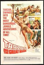 TARZAN & THE GREAT RIVER -1967- orig 27x41 LINEN BACKED movie poster- MIKE HENRY