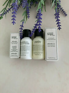 Philosophy renewed hope in a jar concentrate & Moisturizer & 2 cleansers Travel