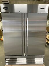 Double Door FREEZER Commercial FROZEN Stainless 2 Door  Reach In  New Up Right