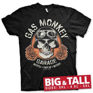 Officially Licensed Gas Monkey Garage Skull BIG & TALL 3XL,4XL,5XL Men's T-Shirt