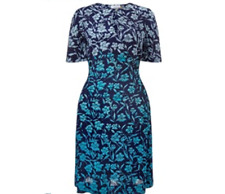 Collection Weekend By John Lewis Ombre Floral Dress, Blue BNWT SIze 12 RRP £59