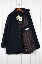 Button Wool Long Parkas for Men