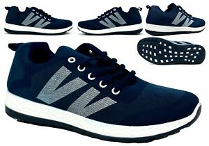 MENS NEW ULTRA LIGHTWEIGHT COMFY LACE UP SOFT GYM FITNESS TRAINERS UK SIZES 3 7