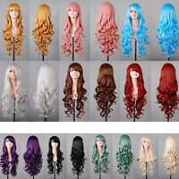 New Fashion Girls Wigs Long Wavy Curly Anime Cosplay Party Costume Hair Full Wig