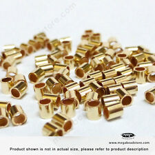 2mm x 2mm 14K Gold Filled Crimp Tube Bead Spacer Beads F32GF-100 pcs