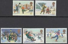 GB Stamps 1990, Christmas, set of 5 VFU from FDC, Feint Cancels, SG 1526-1530