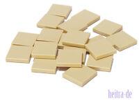 LEGO - 20 x Kachel / Fliese 2x2 tan / Sandfarben / beige / 3068b NEUWARE (L14)
