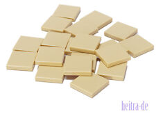 LEGO - 20 X TESSERA/piastrella 2x2 Tan/sabbia/Beige/3068b merce nuova (l14)