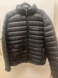 Men's Black Marmot Azos 700 Fill Down Jacket / Size L