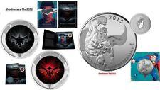 2016 DAWN OF JUSTICE Batman V Superman Lenticular & $20 Silver Superman Coin SET