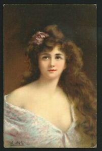 Postcard - Angelo Asti Signed  - Gladys - 1913
