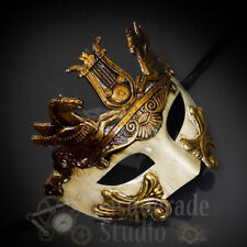 Mens Greek Roman Warrior Hercules Venetian Masquerade Ball Mask [Gold]