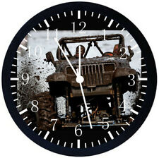 Jeep Wrangler Off Road Black Frame Wall Clock Nice For Decor or Gifts E321