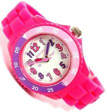 TIKKERS GIRLS TIME TEACHER WHITE DIAL PINK SILICONE RUBBER STRAP WATCH - NTK0001