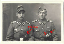 Foto 2 WK, Portrait , 2 Brüder, Luftwaffe, Orden Flakkampf Abzeichen, EK, ISA,