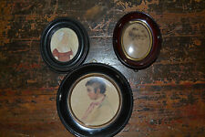 3 fine 19th Century Framed Miniatures, one signed on rear by Westall, c 1840