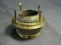 "Antique Brass Screw In Oil Lamp Burner Patent 1895 Part Exc Condition 2 1/2""W"