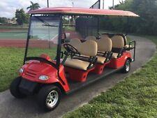 2017 red citecar Golf Cart LIMO 8 Passenger seat 48v street legal lsv w title