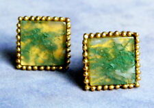 VINTAGE 1950'S MOSS AGATE CUFFLINKS BY DON LOPER