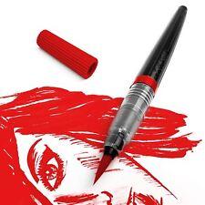 Pentel Colour Water Brush Pen - Refillable, Calligraphy, Manga - 12 Colours