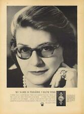 "1962 Rolex PRINT AD ""Trigere ... I hate time"" Detailed vintage photo ad"