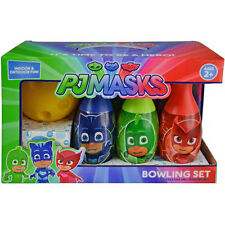 Bowling Set PJ MASKS Catboy Gekko Kids 6 Pins 1 Ball Play Toy Birthday Gift
