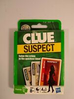Hasbro Clue Suspect family card game open box, factory sealed cards