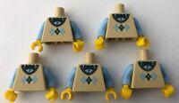 LEGO 5 x Torsos Argyle Sweater Minifigure Torso Bundle Computer Programmer CMF