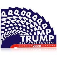 10Pcs 2020 Trump Sticker Political Keep USA America Great for President Bumper