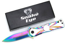 Snake Eye Tactical Rainbow Action Assisted Spinner Style Folding Pocket Knife