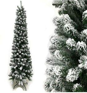 Albero di Natale artificiale innevato slim salvaspazio Maiella cm 180 210 Rotex