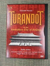 Giacomo Puccini Turandot at the Forbidden City of Beijing Dvd Orchestra Mehta