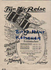 Werbung: RATHENOW, 1928, Emil Busch AG Panorama Prismen-Feldstecher Bis-Telar