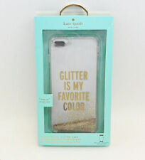 New OEM Kate Spade New York Liquid Glitter Gold Case For iPhone 6 Plus/6s Plus