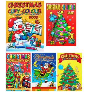 MINI Childrens Christmas Colouring Books For Kids For Boys Girls Book - Santa -