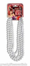 ROARING 20s FLAPPER BEADS PEARL NECKLACE WHITE 1920s Gatsby Costume Accessory