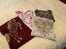 Lot of 4: Girl Justice Short Sleeved Shirts - Size 18/20