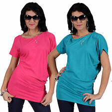 Locker sitzende Kurzarm Damenblusen, - tops & -shirts im Tunika-Stil