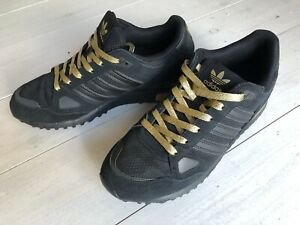 Adidas Trainers Originals zx 750 Black & Gold Size UK 8.5