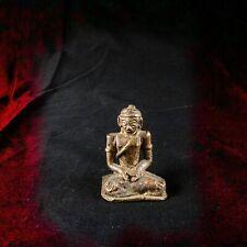 ANTIQUE Prehistoric Bronze Tibet Religious Praying Buddha Figurine Statue