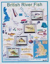 GB 1983.A4 app DESIGN SHEET BRITISH RIVER FISH  & FREE GIFTS (87)