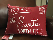 Pottery Barn DEAR SANTA LETTER Pillow 14 X 18 NWT Christmas~Postcard