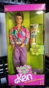 Vintage Barbie TOTALLY HAIR KEN 1991 MATTEL Never Played With * NIB