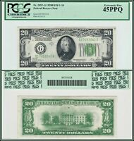 1928B Light Green Seal $20 Chicago Federal Reserve Note PCGS 45 PPQ XF FRN LGS